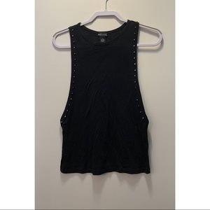 Black Wet Seal tank top with silver studs